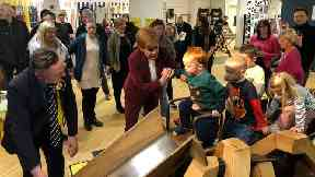 Nicola Sturgeon: Campaigning in Stirling on Wednesday.