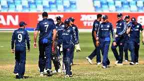 Scotland won in Dubai to reach the T20 World Cup.