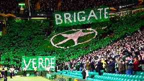 Celtic are in the dock over banners shown by fans.