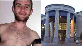 Attack: Billy Smith (left) was jailed for eight years.