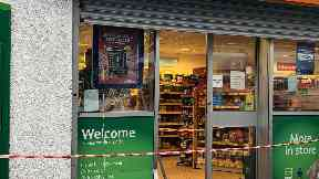Investigation: The Londis store in Newton Mearns was also targeted.