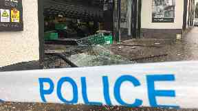 Damage: Police believe the two incidents are linked.