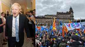 No: Boris Johnson says he will not grant permission for a second independence vote.