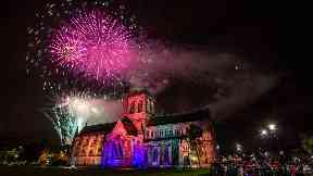 Dazzling: More than 16,000 people watched Paisley's fireworks display.
