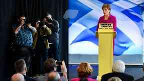 Nicola Sturgeon launches the SNP general election campaign.