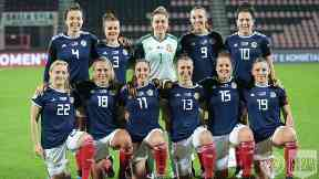 Champs: The starting Scotland squad.