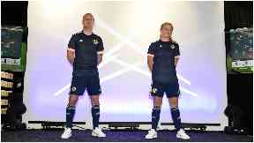 Design: The new kit is all-navy.