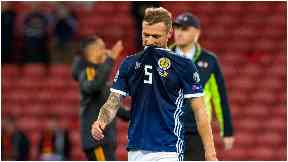 Out: Liam Cooper is to miss Scotland's upcoming double-header.