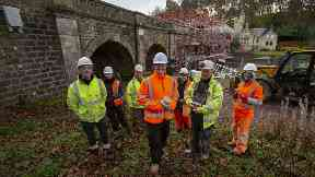 Construction: Scottish Water drafted in a team of workers from Mackenzie Construction.