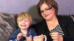 Fight: Charmaine Lacock with daughter Paige.