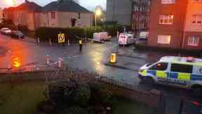 Glasgow: Officers have sealed off three streets.