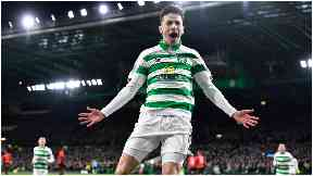 Super-sub: Johnstone climbed off the bench to score Celtic's third goal.