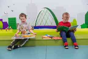 Bright new spaces at the refurbished Partick Library