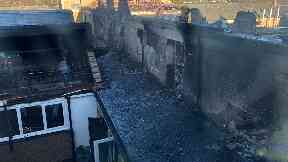 Peebles High School: The secondary went up in flames.