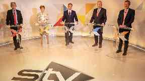 Debate: First time Scottish leaders have faced off this election.