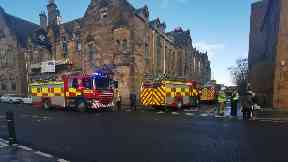 Firefighters extinguish blaze at iconic A-listed building