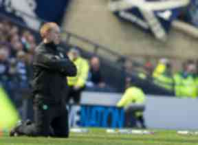 Uncertain times: Neil Lennon during shock defeat