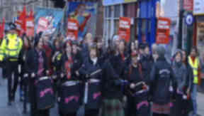 Anti-racism rally takes place in Glasgow