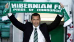 Back to being boss: Colin Calderwood is appointed as new Hibs manager.