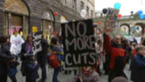 Rally: Parents are worried specialist teachers could be cut to make savings.