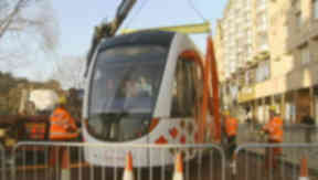 Trams: Vehicle production is on schedule, but the track work is already two years behind.