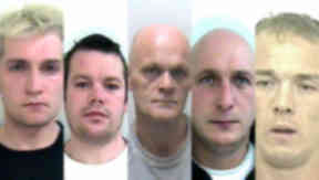Jail terms: Lucasz Litwinski, Leslie Graham, James Boyle, Martin Graham and Edward McIntosh