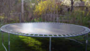 Starkers: a neighbour saw James Burden on a trampoline in the back garden