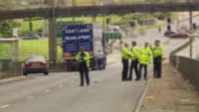 Police closed Forfar Road where the accident happened.