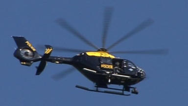 Helicopter: Targeted after Papal mass in Bellahouston Park.