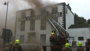 Star and Garter: destroyed by fire
