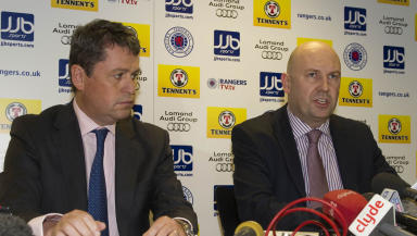 Rangers: Oldco administrators David Whitehouse and Paul Clark (file pic).