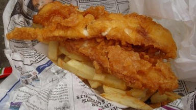 Fishy Friday's raising charity cash at The Finnieston today.