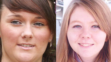 Funeral: Mhairi Convy (left), pictured with Laura Stewart