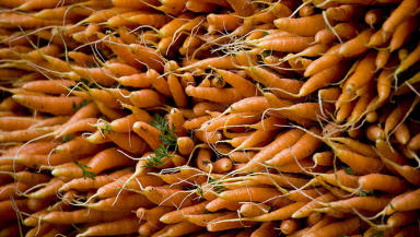 Vegetables: Lorry was carrying carrots and onions (file pic).