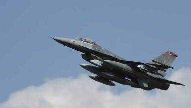 Diversion: The plane was safely escorted to the ground by another F-16.