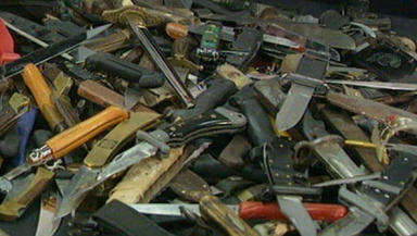 Increase: The number of knives confiscated in Scottish Courts has risen over 600% in three years.