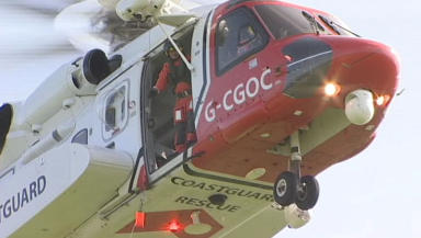 Coastguard: Search and rescue helicopter operation.