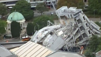 Earthquake damage: Christchurch New Zealand hit by tremor.
