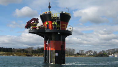 Turbine: Devices like these will be deployed in the water