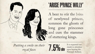 Beer: The brewery claims it is hitting back at other companies jumping on the 'royal wedding bandwagon'.