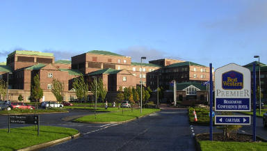 Hospital: The Beardmore Hotel is part of the Golden Jubilee complex.