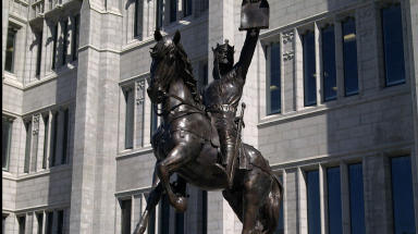 Unveiled: The statue was presented in Aberdeen on Monday