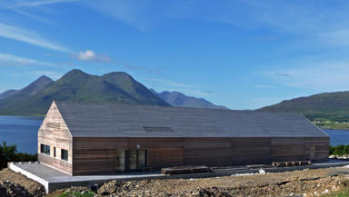 Raasay Hall: The multi-use community hall has amazing views of the Isle of Skye.