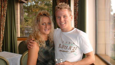Death: Colin Marr with his bride-to-be Candice Bonar.