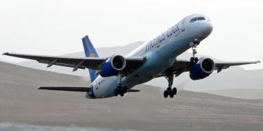 Emergency: A Thomas Cook 757 was forced to land in Germany.