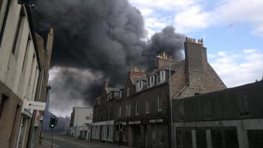 Major fire: Peterhead boat builders hit by blaze