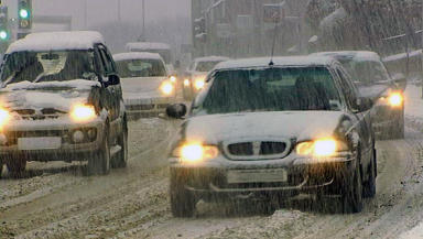 Snow causes problems on the roads