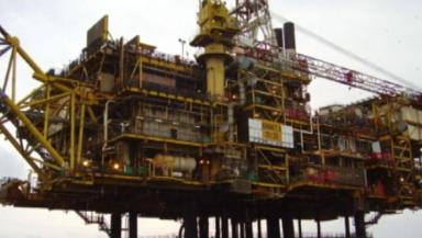 Shell platform: The Gannet Alpha is 112 miles off Aberdeen.