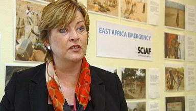 Fiona Hyslop: Announcing more funding for aid agencies.