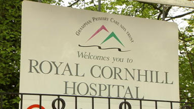 Man detained: Alleged stabbing took place at Cornhill Hospital.